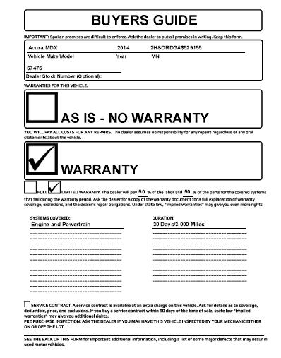 warrantyform
